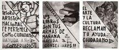 """""""Carteles"""": La junta de patrimonio artístico además de llevar a cabo el exilió de las obras de arte del Museo del Prado,  puso por toda la capital  una serie de carteles, con consignas como """" Ciudadano, no destruyas ningún grabado, ni trabajo antiguo""""."""