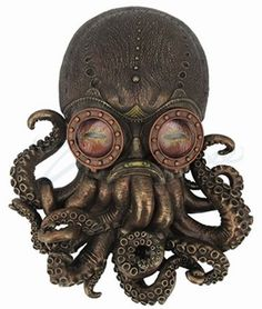 Steampunk Octopus Wall Plaque
