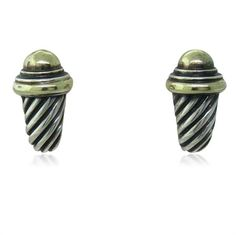 David Yurman 14k Sterling Cable Earrings  Available on our August 11th Auction @ hamptonauction.com