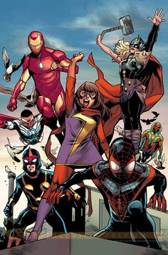 All New, All Different Avengers by Mahmud Asrar *