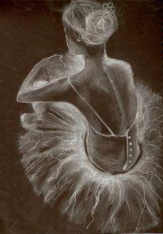 Ballet Drawing - Waiting by Amanda Shepherd