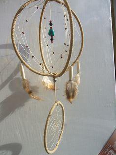 Kugel Traumfänger in beige mit Howlith von TRAUMnetz.com     ** DReamcatcher u.v.m.  ** auf DaWanda.com
