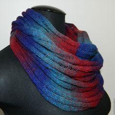Купить Снуд из 100% шерсти Дундага - разноцветный, разноцветная пряжа, разноцветный снуд