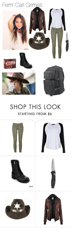 """""""Fem! Carl Grimes"""" by coeurxheureux ❤ liked on Polyvore featuring Boohoo, Reneeze, women's clothing, women, female, woman, misses, juniors, thewalkingdead and TWD"""
