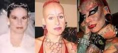 face tattoo extreme female - Google Search