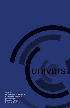 'Univers - Typeface Poster Series' by Nick Mann Type Design, Design Art, Poster Series, Typographic Poster, Type I, Graphic Design Typography, Canvas Prints, Video Game, Fonts