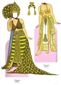 Theda Bara paper doll clothes by Tom Tierney / Dover Company