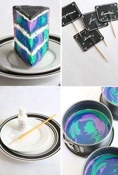 Zodiac Constellation Cake | Sprinkle Bakes