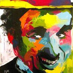 Bob Marley :) sold ! At the first floor store alexandria Egypt (price:750LE) #charliechaplin #abstract #art #artist #artwork #colorful #creative #portrait #paletteknife #paletteknifepainting #francoiseniellyart #francoisenielly #egyptart #egyptartist #colorful #art_empire #art_help #art_spotlight
