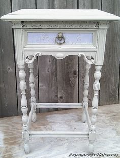 Check out the site to see more detailed and close-up pictures of this piece. The drawer has some scripting on it. Very vintage.