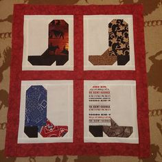 Boot Block Wall Hanging