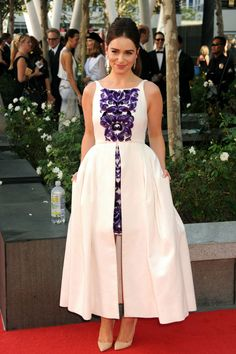 Look of The Moment | Top 10 Emmy Dresses - NYTimes.com - Emilia Clarke in top to toe Chanel (Image Jeff Kravitz/Film Magic)