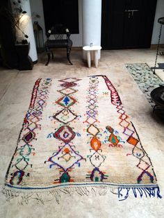 Vintage Moroccan rug  Azilal by BazaarLiving on Etsy, £700.00