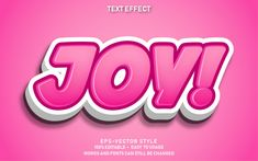 Editable text effect cute joy Premium Ve. Greeting Card Template, Banner Template, Letras Abcd, Typography Fonts, Lettering, Magazine Cover Page, Cover Page Template, Food Poster Design, Special Text