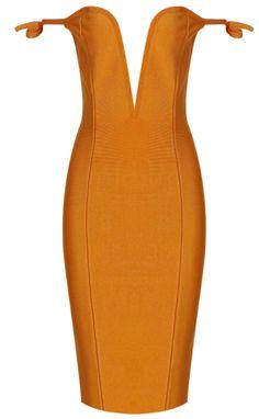 MONIQUE DRESS || MUSTARD