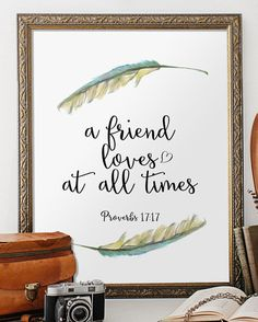 Bible Verse Art Scripture Printable Verses Best Friendship Quotes Gifts Bible  Verse Print Scripture Wall Art Instant Download Print BD 376
