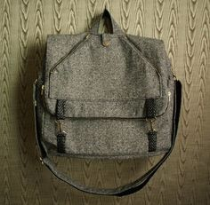 tweed messenger backpack by THREADBEAT. I love this! Backpack and messenger bag!? I'm in!