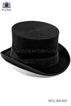 Sombrero de copa negro 98535-2894-8000 Ottavio Nuccio Gala. Sombreros Y  Tocados fa5b97d078b