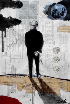 Loui Jover; Painting, Assemblage / Collage theories, blue moon and schematic diagrams