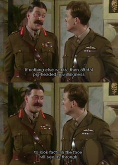 Blackadder Goes Forth – 13 Of The Best Quotes! British Sitcoms, British Comedy, English Comedy, Comedy Series, Comedy Tv, Tv Series, Blackadder Quotes, Funny Memes, Hilarious