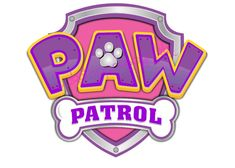 5 inch Pink & Purple Paw Patrol Logo Precut Icing CakeToppers Easy Peel & Attach Fab For Birthday Cakes: Amazon.co.uk: Kitchen & Home