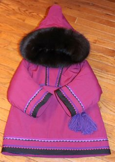 Inuit made girl's parka by Naomi Wilman