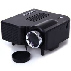 UC - 40 400 Lumens Two Colors Portable Home Mini LED Projector Support AV/SD/VGA/HDMI  -  BLACK