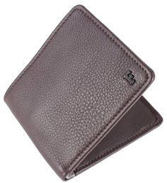 French Connection Leather Wallet - Brown/Grey
