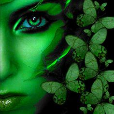 I dont know where this came from originally but it looks familiar. Great bit of photo shopping whoever did it! Gaia Goddess, Earth Goddess, Green Goddess, Behind The Green Door, All Nature, Eye Art, World Of Color, Wiccan, Pagan Witch