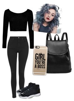 """""""Untitled #36"""" by trillymilly ❤ liked on Polyvore featuring Boohoo, Topshop, NIKE and Casetify"""