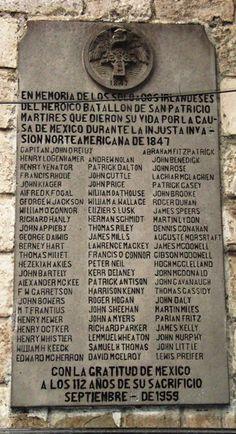 En memoria del heroico Batallón de San Patricio.
