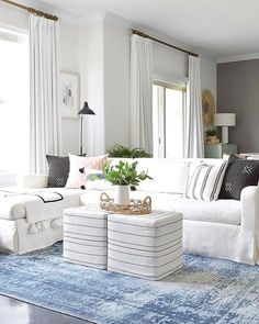 Elevate organic living room textures with sleek striped throws and pretty  porcelain lighting care of   2344b06b791