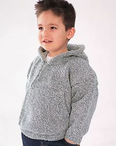 Protect your child from the cold with this stylish hooded sweatshirt. Use this free knitting pattern to quickly and easily create this one-of-a-kind wardrobe essential.