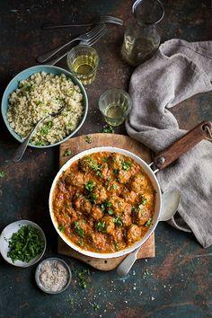 goan meatball curry with cauliflower rice.