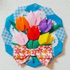 No photo description available. Origami Easy, Origami Paper, Paper Cutting, Paper Flowers, Paper Art, Diy And Crafts, Seasons, Spring, Instagram