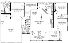First Floor Plan of Ranch   House Plan 50220