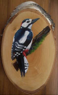 Wood Pallet Art, Pallet Painting, Wood Painting Art, Wooden Art, Stone Painting, Arte Naturalista, Pintura Country, Wood Burning Art, Bird Pictures