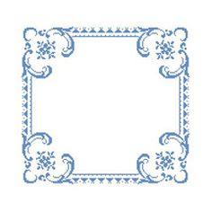 Blue Border, free cross stitch pattern from Alita Designs