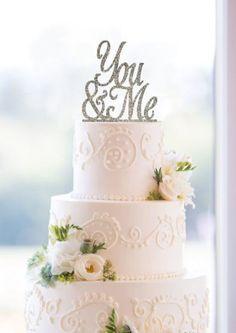 Unik Occasions Love Wedding Acrylic Cake Topper Silver Glitter UO-CT-AC-0039