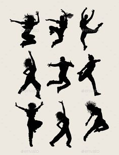 Modern Dancer Silhouettes by martinussumbaji Modern Dancer Silhouettes, art vector design. Ai CS, JPEG and EPS Ballet Tattoos, Dancer Tattoo, Dancer Drawing, Person Silhouette, Dance Silhouette, Silhouette Vector, Dance Photos, Dance Pictures, Baile Hip Hop