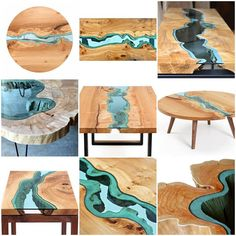 Furniture with Rivers of Glass Running Through Them