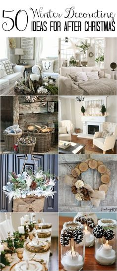 50 Winter Decorating Ideas Christmas is over! How do you transition to cozy winter decor that won't make you feel blue? Here's a collection of winter decorating ideas to make your home feel warm and inviting post-holiday. After Christmas, Christmas Home, Christmas Crafts, Christmas Decorations, Wedding Decorations, Christmas Lights, Christmas Ideas, Christmas 2019, Christmas History