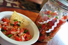 Pico de Gallo-- cannot wait for fresh tomatoes and peppers from the garden... I don't like store bought tomatoes!