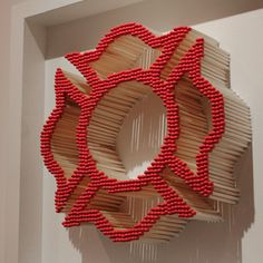 Maltese Cross made out of matches. this is sick! definitely going to attempt to make this for Jim for Christmas!