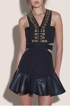 Slim dress skirt lotus leaf edge_Dresses(d)_DESIGNER_Voguec Shop