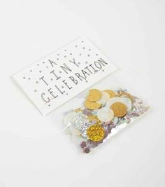 Celebrating a new job or birthday? Send a little packet of confetti to throw in the air.