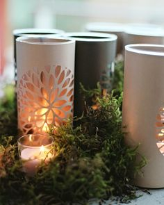 Wedding Ideas, Genius Idea Paper Cut Outs Make For An Elegant And Unique Dress Up Of Plain Glass Candle Holders: wedding album ideas Candle Holders Wedding, Glass Candle Holders, Craft Wedding, Diy Wedding, Wedding Ideas, Fall Wedding, Wedding Decor, Crafts For Teens, Diy And Crafts