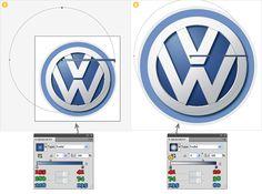 Create the Volkswagen logo in Illustrator