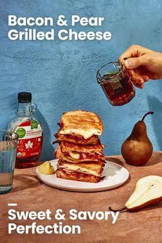 Breakfast Recipes, Snack Recipes, Dessert Recipes, Cooking Recipes, Snacks, Grilled Sandwich, Soup And Sandwich, Maple Butter Recipe, Sammy