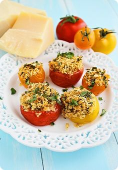 Baked Provencal Tomatoes http://www.thecomfortofcooking.com/2012/06/mini-baked-provencal-tomatoes.html